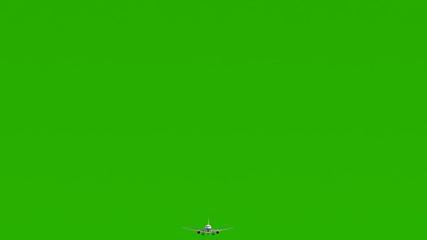 3D plane on green screen