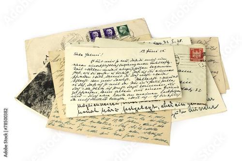 canvas print picture Briefe, Erinnerung, Post, Nostalgie
