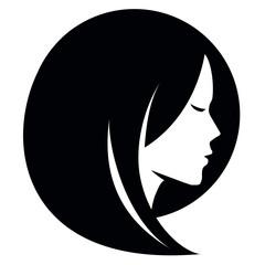 beauty salon vector logo design template. Spa or haircut icon.