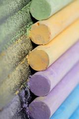 Colorful chalk pastels