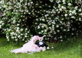 Just married romantic bear toys