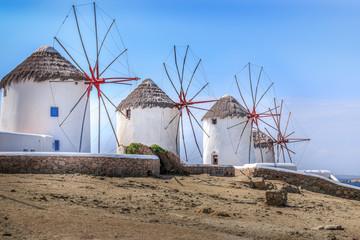 Die Windmühlen von Mykonos