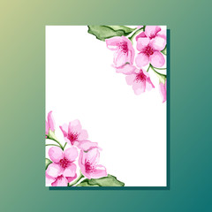 Blossom cherry invitation
