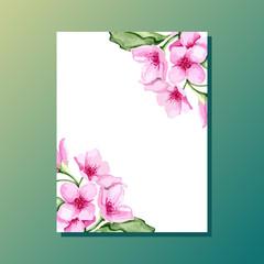 Blossom cherry invitation
