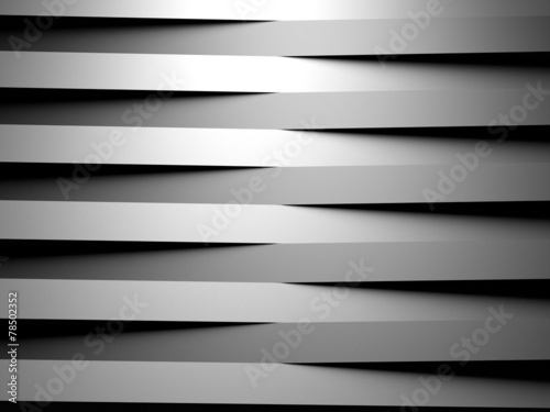 abstract geometrical background made of horizontal 3d blocks - 78502352