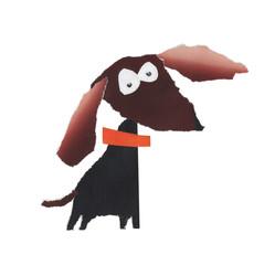 Dog. Applique handmade