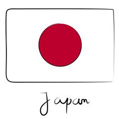 Japan flag doodle