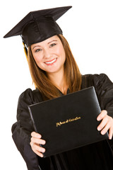 Graduate: Proud to Hold Out Diploma