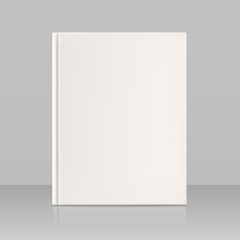 Blank vertical book cover, look full face. Vector illustration