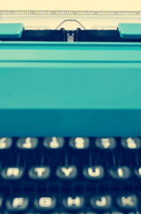 retro typewriter, with a filter effect