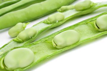 broad bean pods