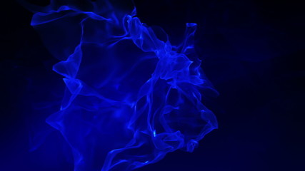 Abstract background in dark blue