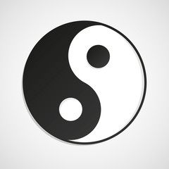 Yin Yang on white background isolated