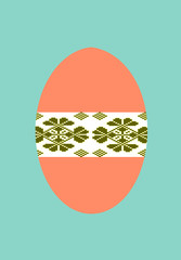 Happy Easter - decorated egg without text. Illustration.