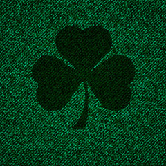 Texture of textile with cloverleaf background