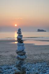 Pyramide de galets, Bretagne