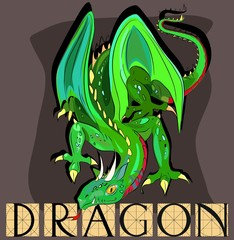 Dragon  with title