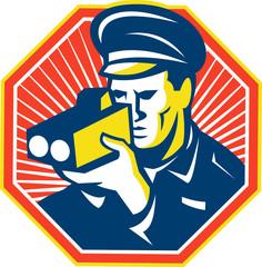 Policeman Police Officer Speed Camera Radar