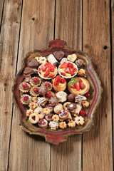 Assorted cookies and desserts