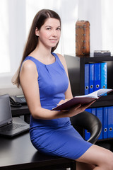 Elegant business woman work in the office