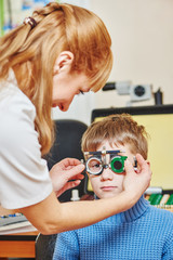 eye examinations at ophthalmology clinic
