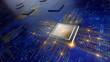 Leinwanddruck Bild - Central Computer Processors CPU concept