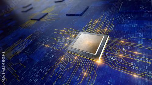 Leinwanddruck Bild Central Computer Processors CPU concept