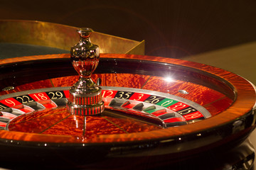 casino roulette - closeup