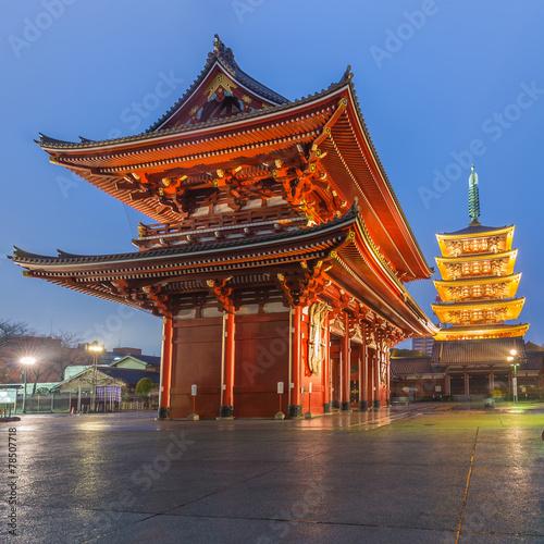 Poster Tokyo Tokyo - Sensoji Temple in Asakusa, Japan
