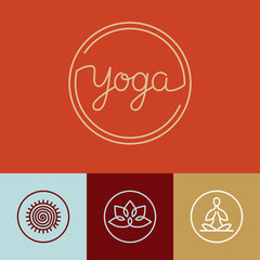 Vector linear yoga logo