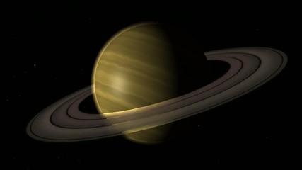 Il pianeta Saturno con gli anelli