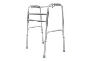 Adjustable folding walker for elderly, disabled
