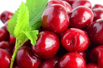 Cherries and Lemon balm leaf 6