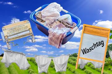 Waschtag Antik