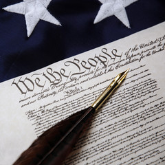 We the people - Constitution and quill pen