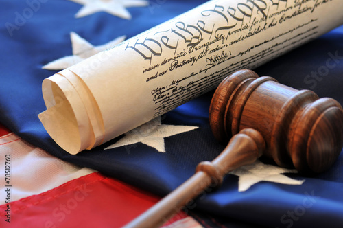 Gavel and Constitution