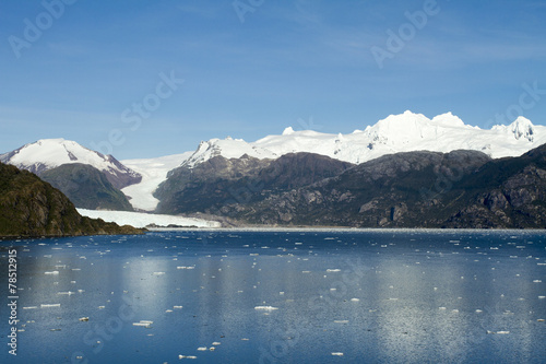 Fotobehang Gletsjers Chile - Amalia Glacier In Sunny Day