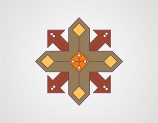 geometric arrow shape color design vector