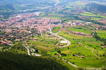Berga area from mount in  Pyrenees