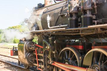 Steam Locomotive in Remedios station,Cuba