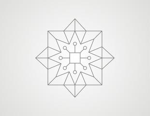 geometric square star shape design vector