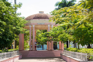 Gazebo in Isabel II plaza in Remedios,Cuba
