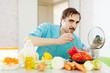 guy doing vegetarian lunch