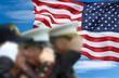 Leinwanddruck Bild - Soldiers Saluting