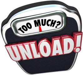 Too Much Unload Words Scale Share Responsibility Delegate Work