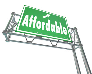 Affordable Best Value Low Price Words Freeway Sign