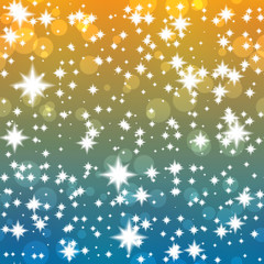 Groovy festive background with shining stars