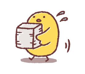 書類を運ぶヒヨコ