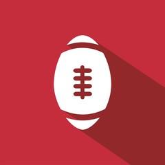 Icono balón rugby rojo sombra