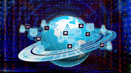 The technology Internet  of global business